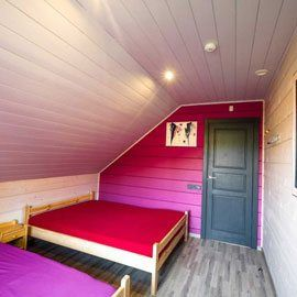 Anupro Vila miegamasis kuriame yra dvi 140cm lovos